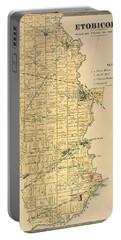 Etobicoke Map 1878 Portable Battery Charger