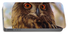 Portable Battery Charger featuring the photograph Eurasian Eagle Owl by Cynthia Guinn
