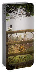 Eurasian Magpie In Morning Mist Portable Battery Charger