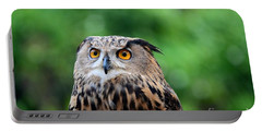Eurasian Or European Eagle Owl Bubo Bubo Stares Intently Portable Battery Charger