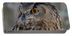 Eurasian Owl Portable Battery Charger by Debby Pueschel