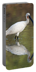 Eurasian Spoonbill Platalea Leucorodia Portable Battery Charger by Panoramic Images