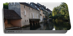Eure River And Old Fulling Mills In Chartres Portable Battery Charger by RicardMN Photography