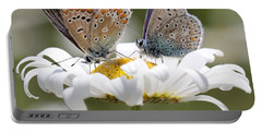 European Common Blue Butterflies Portable Battery Charger
