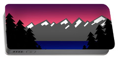 Evening At The Lake Portable Battery Charger
