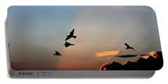 Portable Battery Charger featuring the photograph Evening Dance In The Sky by Bruce Patrick Smith