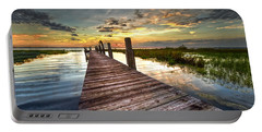 Evening Dock Portable Battery Charger by Debra and Dave Vanderlaan