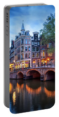 Evening In Amsterdam Portable Battery Charger