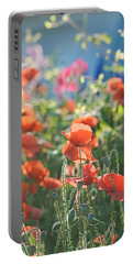Evening Lights The Poppies Portable Battery Charger