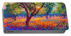 Evening Poppies Portable Battery Charger by Jane Small