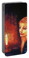 Evening Prayer Portable Battery Charger by Jane Small