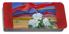 Portable Battery Charger featuring the painting Evening Primrose by Phyllis Kaltenbach