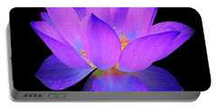 Evening Purple Lotus  Portable Battery Charger
