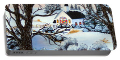 Evening Services Portable Battery Charger by Barbara Griffin