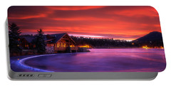 Evergreen Lake Sunrise Portable Battery Charger