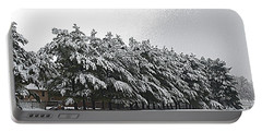 Evergreens In Snow Portable Battery Charger