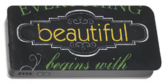 Everything Beautiful Portable Battery Charger