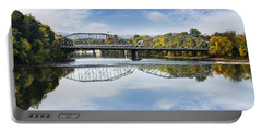 Portable Battery Charger featuring the photograph Exchange St. Bridge Rock Bottom Dam Binghamton Ny by Christina Rollo