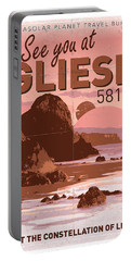 Exoplanet 01 Travel Poster Gliese 581 Portable Battery Charger
