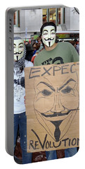 Portable Battery Charger featuring the photograph Expect Revolution by Ed Weidman