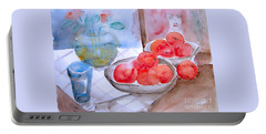 Portable Battery Charger featuring the painting Expectation by Jasna Dragun