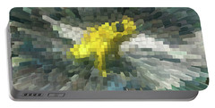 Portable Battery Charger featuring the photograph Extrude Yellow Frog by Donna Brown
