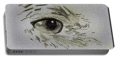 Eye - A Pencil Drawing By Marissa Portable Battery Charger