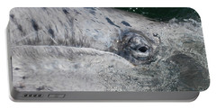 Eye Of A Young Gray Whale Portable Battery Charger by Don Schwartz