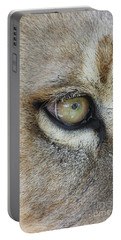 Portable Battery Charger featuring the photograph Eye Of The Lion by Judy Whitton