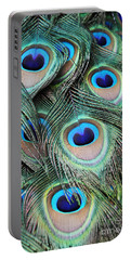 Portable Battery Charger featuring the photograph Eye Of The Peacock #2 by Judy Whitton