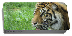 Portable Battery Charger featuring the photograph Eye Of The Tiger by Lingfai Leung