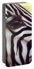 Eye Of The Zebra Portable Battery Charger by Darren Robinson