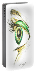 Portable Battery Charger featuring the painting Eye Opener by Teresa White