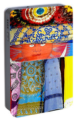 Portable Battery Charger featuring the photograph New Orleans Eye See Fabric In Lifestyles by Michael Hoard