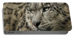 Eyes Of A Snow Leopard Portable Battery Charger