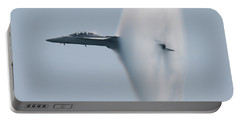 Portable Battery Charger featuring the photograph Fa 18 Super Hornet Vapor Circle 2 by Donna Corless