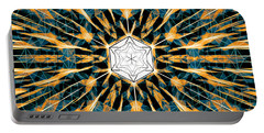 Portable Battery Charger featuring the drawing Fabric Of The Universe by Derek Gedney