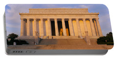 Facade Of A Memorial Building, Lincoln Portable Battery Charger by Panoramic Images