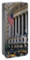 Facade Of New York Stock Exchange Portable Battery Charger