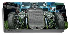 Face Of The Rat Rod Portable Battery Charger by Victor Montgomery