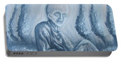 Portable Battery Charger featuring the painting Fade Away by Michael  TMAD Finney