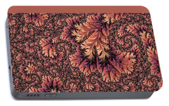 Portable Battery Charger featuring the digital art Faerie Forest Floor Ill by Susan Maxwell Schmidt