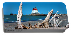 Fairport Harbor Lighthouse 2 Portable Battery Charger by Michelle Joseph-Long