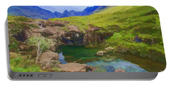 Fairy Pools Of Skye Watercolour Portable Battery Charger