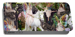 Fairy Queen With Unicorn Portable Battery Charger