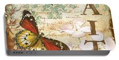 Faith And Butterflies Portable Battery Charger