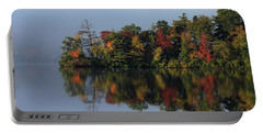 Fall At Heart Pond Portable Battery Charger by Kenny Glotfelty