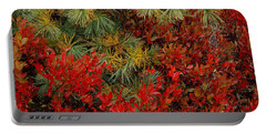 Fall Blueberries And Pine-h Portable Battery Charger