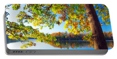 Fall By The Lake Portable Battery Charger