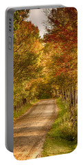 Portable Battery Charger featuring the photograph Fall Color Along A Peacham Vermont Backroad by Jeff Folger